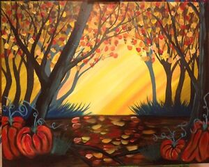 Fall Foliage - 16X20 original acrylic painting