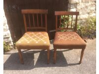 Pair of Mahogany Upholstered Chairs