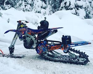 Yz450f with Timbersled snowbike
