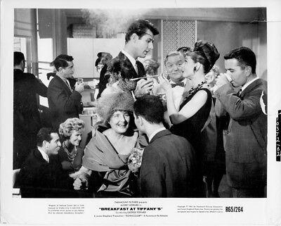 Breakfast at Tiffany's original 8x10 photo Re-Release 1965 Audrey Hepburn party