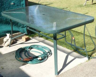 Glass Bbq Outdoor Dining Table