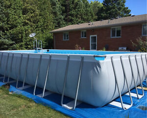 Coleman above ground swimming pool 22x12'