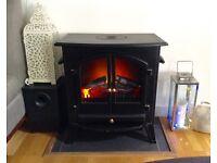 Prolectrix 18kw Black Electric Log Burner Style Fireplace