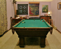 Antique Pool Table & Racks
