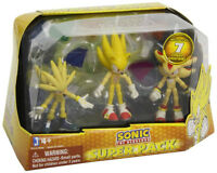 3 inch Sonic Super Pack 3 Figures with 7 Chaos Emeralds