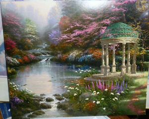 "Thomas Kinkade ""Garden of Prayer"" Art Print Stratford Kitchener Area image 1"