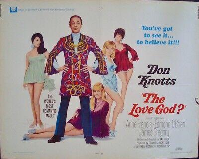 LOVE GOD half sheet movie poster 22x28 DON KNOTTS 1969