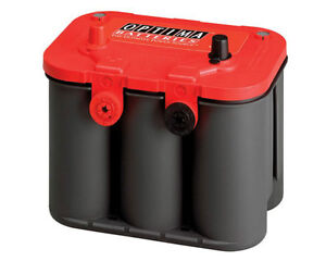 BATTERIE OPTIMA Couvert Rouge 12 V. 25 A.
