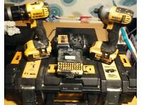 Dewalt combie and impact drill set