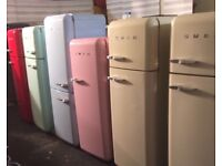 CREAM SMEG FAB30 FRIDGE FREEZER WTH FULL WARRANTY. CAN DELIVER/VIEW. COLLECT