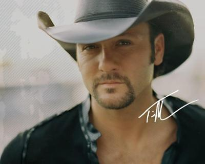 REPRINT - TIM MCGRAW Country Autographed Signed 8 x 10 Photo Poster