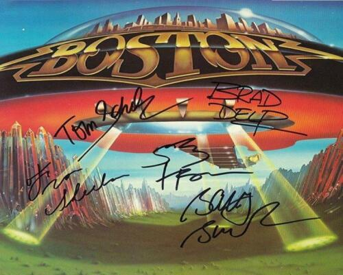 REPRINT - BOSTON Band More Than A Feeling Signed 8 x 10 Glossy Photo Poster RP