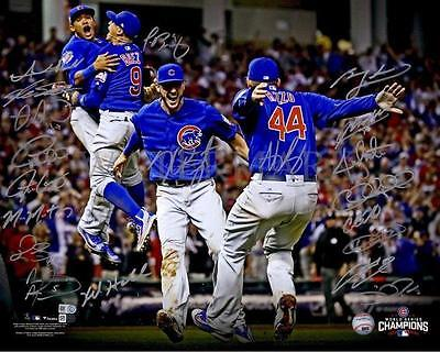 REPRINT - 2016 CHICAGO CUBS Team World Series Champions Signed  8 x 10 Photo RP