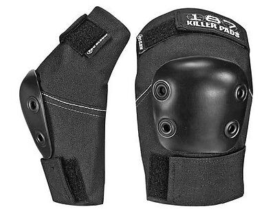 187 Killer Pads PROFESSIONAL Skateboard ELBOW Pads BLACK LARGE