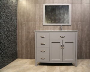 ⎷⎛Contemporary Bathroom Vanity & Cabinet Argentum Series AG42R