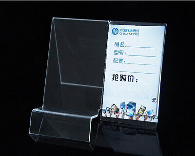 20PCS Clear Mobile cell phone display stand holder racks Universal General S2