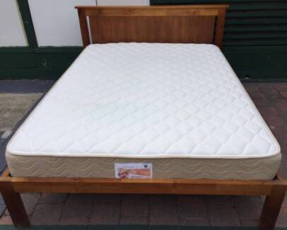 Excellent wooden frame queen bed with excellent mattress