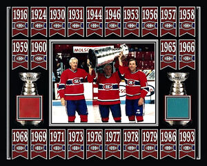 BELIVEAU-RICHARD-LAFLEUR-MONTREAL-STANLEY-CUP-BANNER-8x10-FORUM-RED-BLUE-SEAT