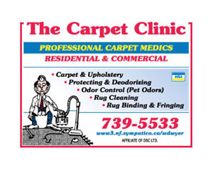 The Carpet Clinic  / Carpet and Upholstery Cleaning