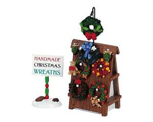 LEMAX Christmas Village Accessories WREATHS for SALE Figurine Set 2 FIGURINES