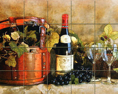 30 x 24 Art Wine Bottle Grape ...