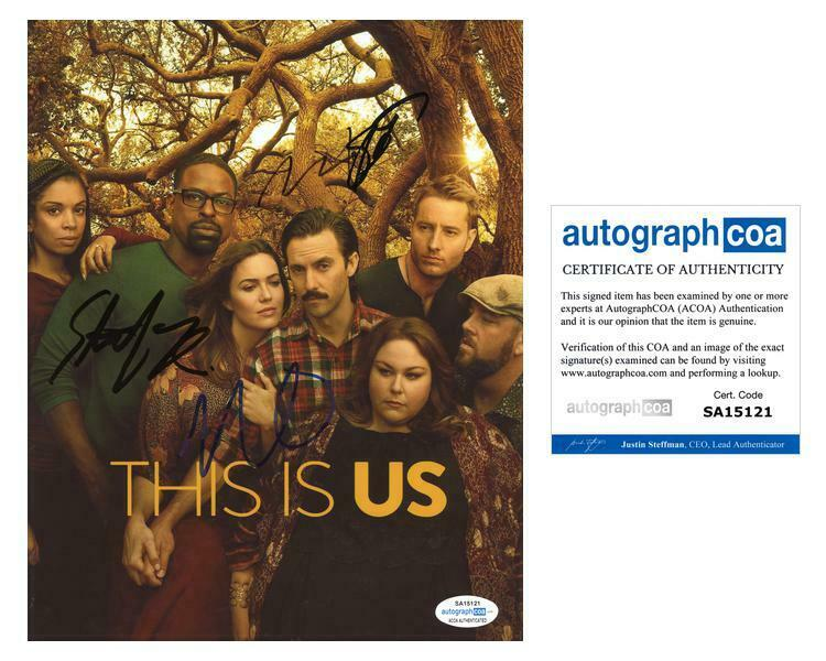 """This Is Us"" Cast AUTOGRAPHS Signed 8x10 Photo - Mandy Moore + 3 B ACOA"