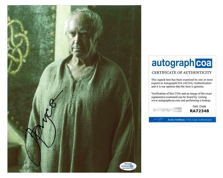 """Jonathan Pryce """"Game of Thrones"""" AUTOGRAPH Signed 8x10 Photo ACOA"""