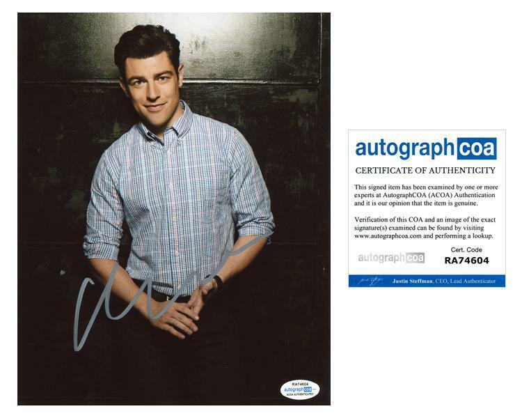 """Max Greenfield """"New Girl"""" AUTOGRAPH Signed 8x10 Photo H ACOA"""