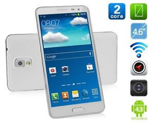 2Core 4.7'' Android 4.3 Unlocked Smart Cell Phone 2Sim GSM AT&T Straight Talk