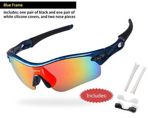 Cycling Bike polarized sports sunglasses Goggle UV400 5 lens, TR-90 frame, NEW!