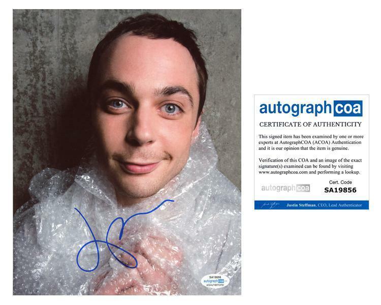 "Jim Parsons ""The Big Bang Theory"" AUTOGRAPH Signed 8x10 Photo E ACOA"