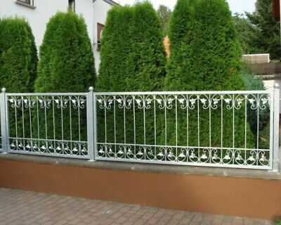 1 Meter Wrought Iron Metal Fence Fence Monaco-Z140/200 Hot-Dipped Zinc