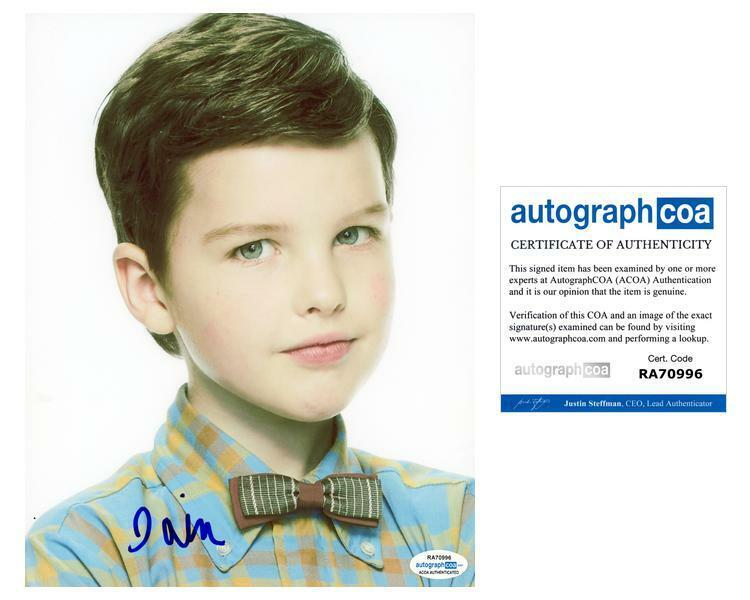 "Iain Armitage ""Young Sheldon"" AUTOGRAPH Signed 8x10 Photo ACOA"