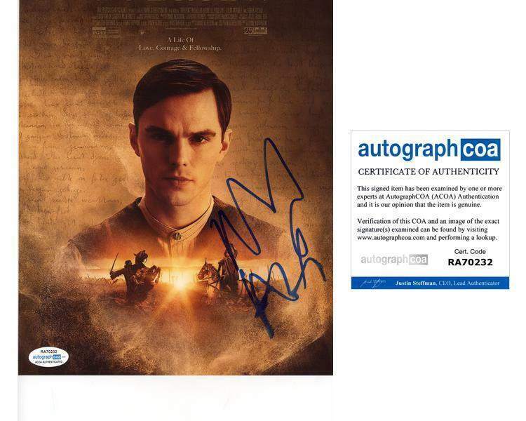 """Nicholas Hoult """"Tolkien"""" AUTOGRAPH Signed 8x10 Photo ACOA"""