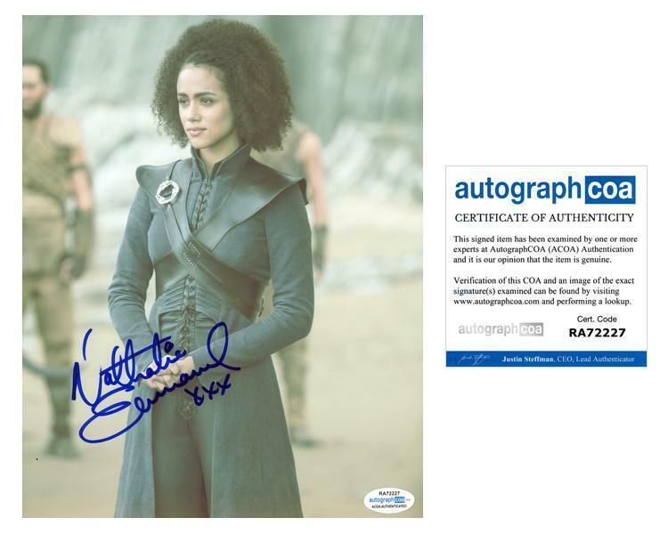 "Nathalie Emmanuel ""Game of Thrones"" AUTOGRAPH Signed 8x10 Photo ACOA"
