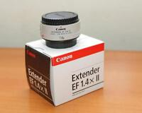 new in pouch, canon EF 1.4X II extender/teleconverter