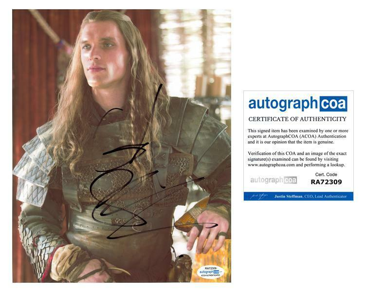 """Ed Skrein """"Game of Thrones"""" AUTOGRAPH Signed 8x10 Photo ACOA"""