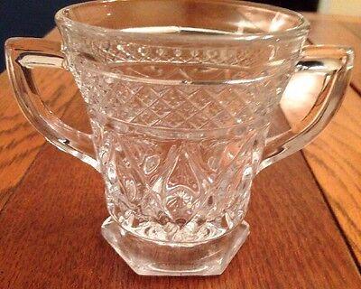 Imperial Glass Ohio CAPE COD CLEAR (#1602 & #160) Open Sugar