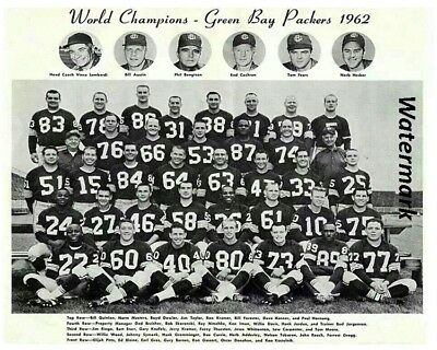 NFL 62 Green Bay Packers World Super Bowl Champions Team Pic 8 X 10 Color Photo - Super Bowl Team Colors