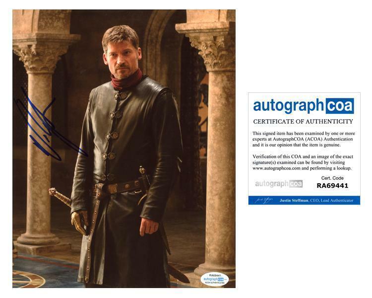 "Nikolaj Coster-Waldau ""Game of Thrones"" AUTOGRAPH Signed 8x10 Photo C ACOA"
