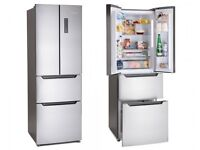 * SWAN * NEW !!! FRIDGE FREEZER BARGAIN !!! SILVER COLOR Have small dents RRP PRICE £ 499