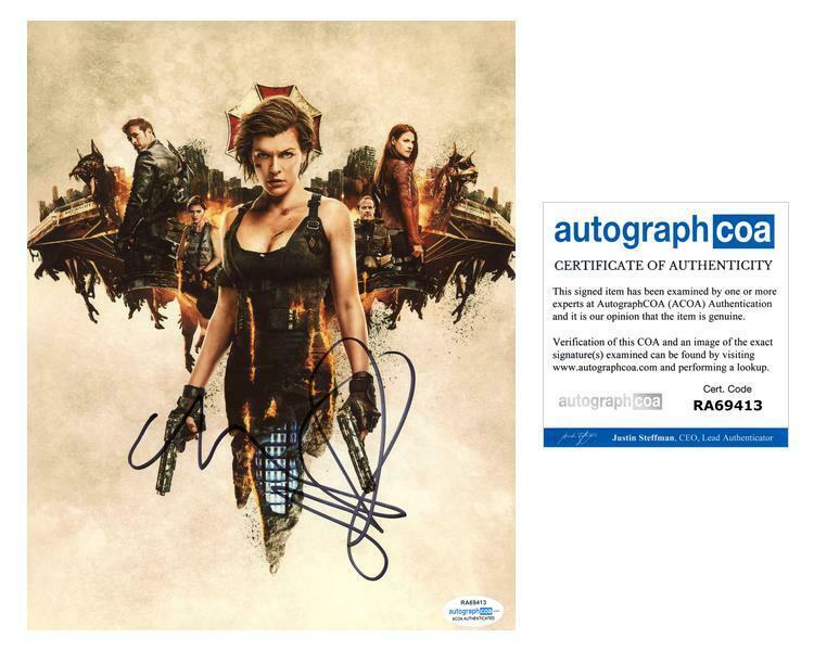 "Milla Jovovich ""Resident Evil"" AUTOGRAPH Signed 8x10 Photo H ACOA"