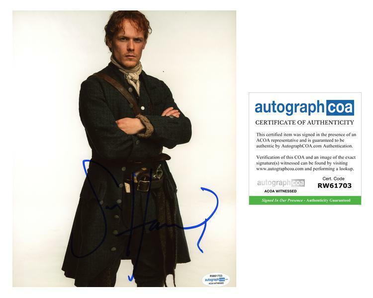 "Sam Heughan ""Outlander"" AUTOGRAPH Signed 8x10 Photo G ACOA Witness ITP"