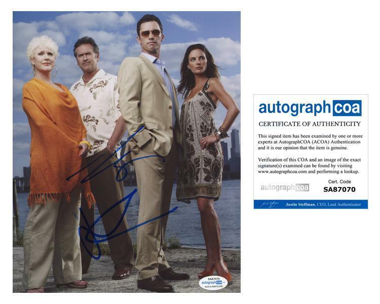 "Jeffrey Donovan & Bruce Campbell ""Burn Notice"" AUTOGRAPHS Signed 8x10 Photo ACOA"