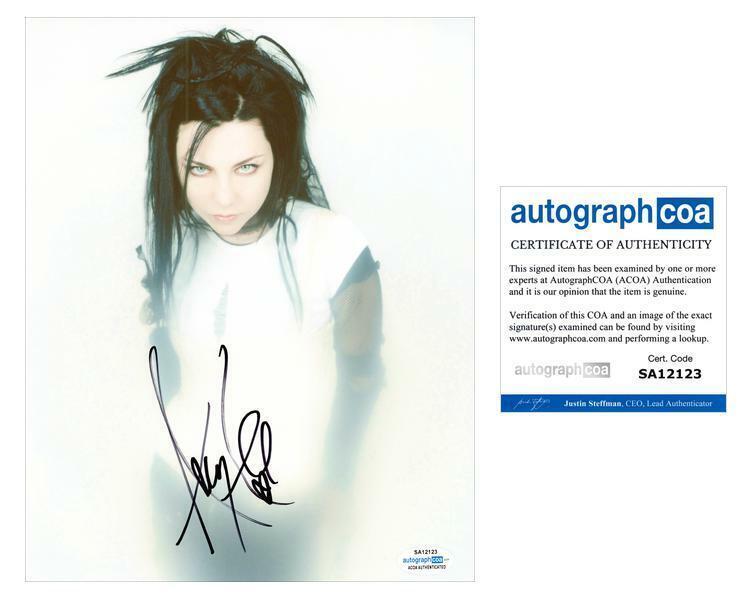 "Amy Lee ""Evanescence"" AUTOGRAPH Signed 8x10 Photo ACOA"