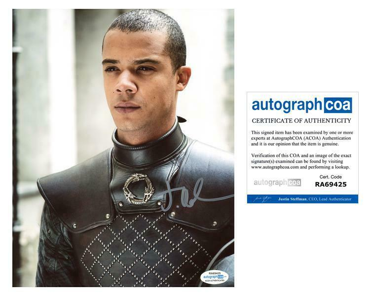 """Jacob Anderson """"Game of Thrones"""" AUTOGRAPH Signed 8x10 Photo F ACOA"""