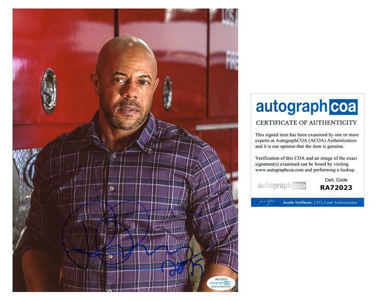 "Rockmond Dunbar ""9-1-1"" AUTOGRAPH Signed 8x10 Photo B ACOA"