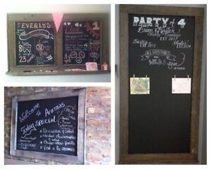 Barnboard menu/chalkboards! Featured all around the GTA Oakville / Halton Region Toronto (GTA) image 3