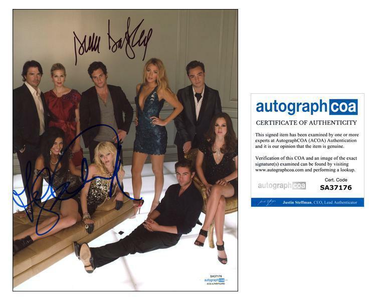"Penn Badgley, Chace Crawford & Jessica Szohr ""Gossip Girl"" SIGNED 8x10 Photo"