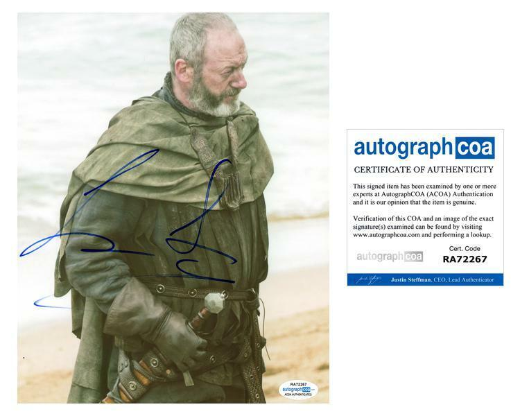 "Liam Cunningham ""Game of Thrones"" AUTOGRAPH Signed 8x10 Photo ACOA"